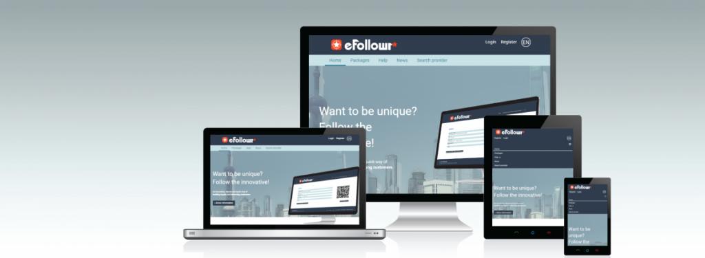 eFollowr responsive